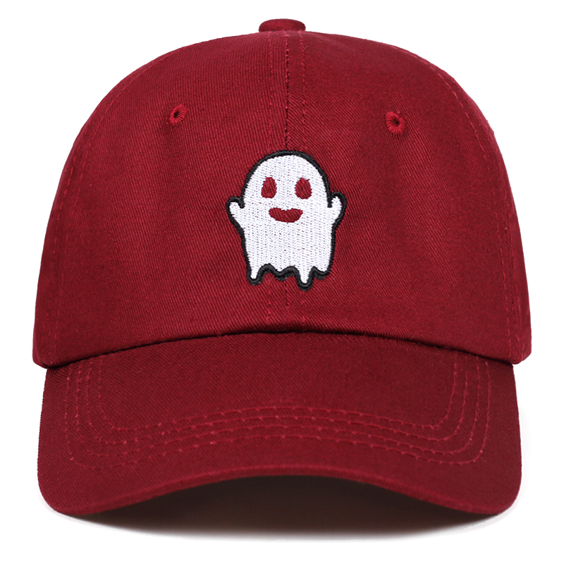 GHOST   caps   For Men Cotton Spooky Kawaii Embroidery   Cap   Snapback Sport Hip-hop Hat Streetwear   Baseball     Cap   Hip Hop Women Dad hat