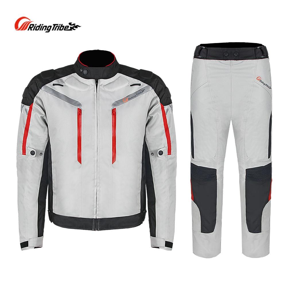 Équitation tribu professionnel Moto veste pantalon hiver chaud Moto costume sécurité Moto course vêtements quatre saisons JK-40A - 2