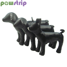 Pawstrip 1PC Lederen Hond Mannequin Staande Positie Hond Modellen Dierenwinkel Display Voor Kleding Kleding Kraag Hond Speelgoed