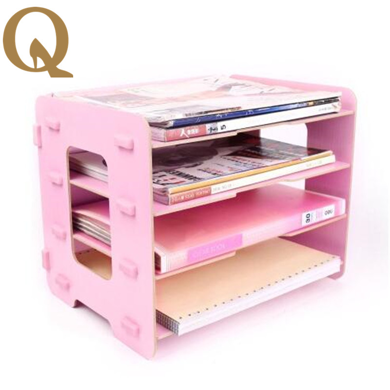 2017 new creative office wooden frame of the utility of the home office data storage shelf archive file box office stationery