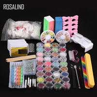 ROSALIND 22PCS/LOT Manicure Set Professional Acrylic Nail Kit Apparatus Nail Art Tools Cutter Brushes Form Nail Extension