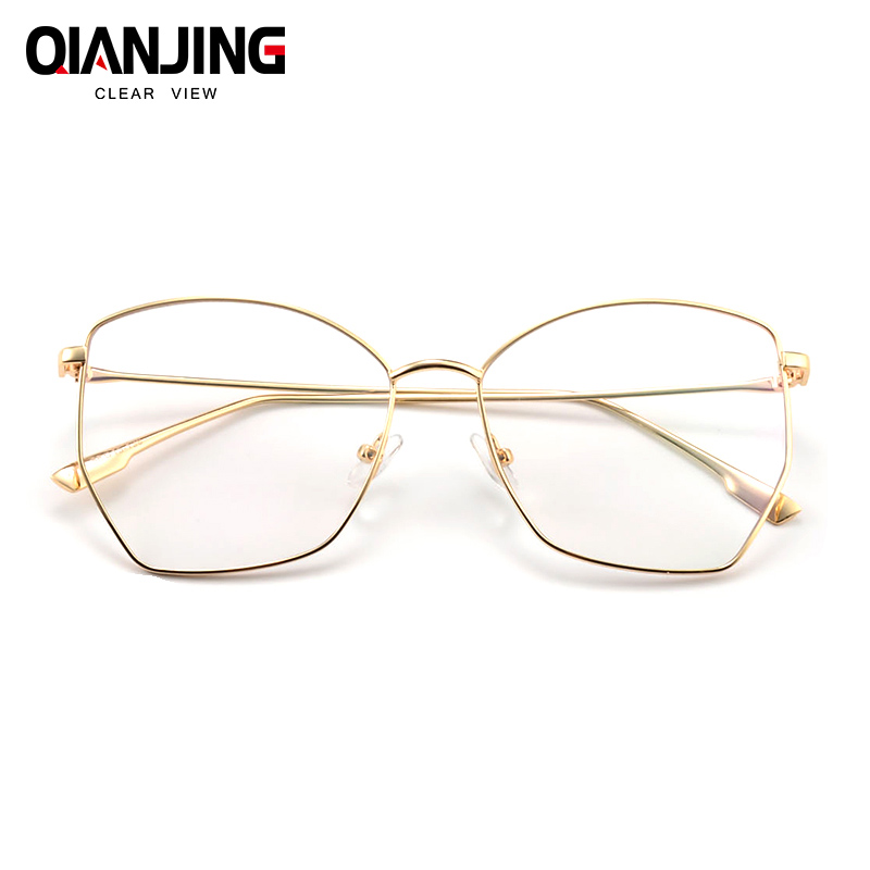 7edce33e02 QianJing New Fashion Men Women Optical Eyeglasses Big Round Glasses  Oversize Frame Women Glasses Clear Glass Brand Designer-in Eyewear Frames  from Apparel ...