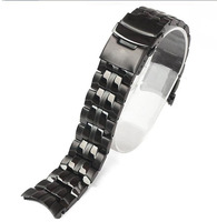 Watch accessories for Casio EF 550 all black steel strap black watch with watch chain