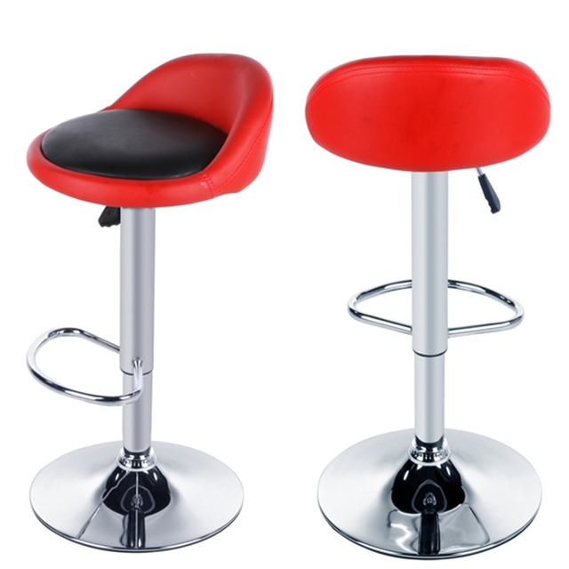 bar stool chairs chair swivel base homdox pu leather of 4 color stools height adjustable kitchen 2pcs set 20 35