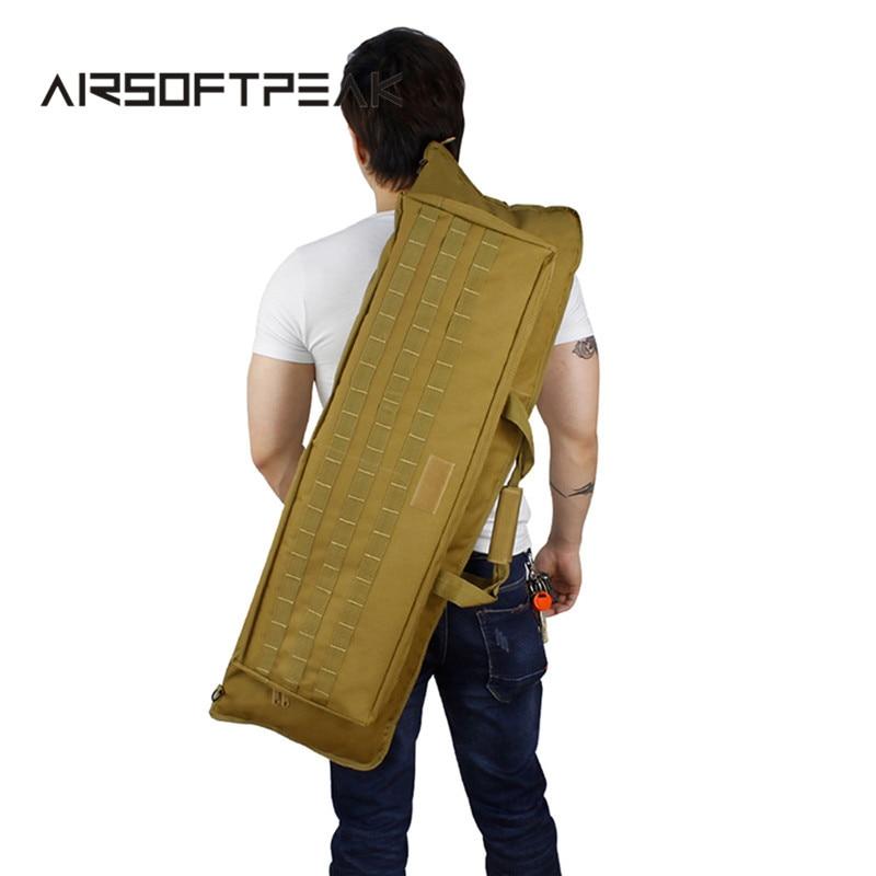 ФОТО Tactical Molle Large Capacity Gun Bag 900D Military Airsoft Shooting Hunting Rifle Backpack Army Combat Gun Handbag Gear