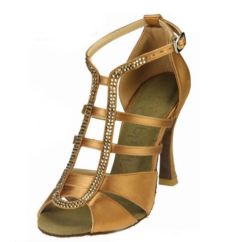 Salsa Shoes Dance Ladies Latin Ballroom Shoes Women Tango Ballroom Latin Salsa Professional Dance Brown Black