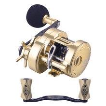 WOEN HG300 Todo o Mar de metal roda de pesca Manivela De Carbono chapa de Ferro Barco de pesca roda de freio Magnético relação da Velocidade da roda: 5.2: 1
