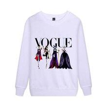 d971785662 2019 moda damska bluzki Vogue bluza czarny charakter jest zła królowa  postaci bluzy damskie czarny charakter księżniczka graficz.