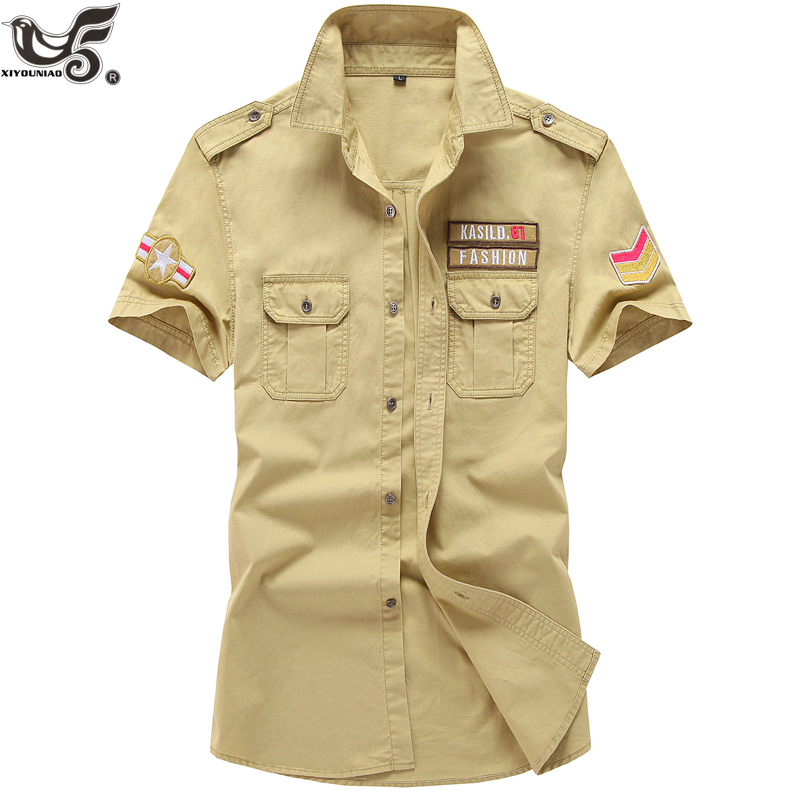XIYOUNIAO Brand Men military army Polo Shirts Camisa Masculina Men's Casual Cotton Short Sleeve Polos <font><b>hombre</b></font> jerseys size M~<font><b>6XL</b></font> image
