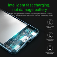 Power bank for iPhone - 10000 mah power bank fast charging 3.0 with USB PD two-way charging 9