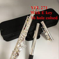 New Top Japan flute YFL 271 16 hole Standard Nickel Silver Student transverse Flute obturator C Key with E key Bamboo Flute