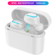Wireless Bluetooth Headphones Waterproof IPX5 Wireless Earbuds Sport HiFi Stereo in-Ear Earphones With Mic Charging Box