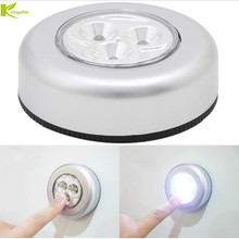 3 LED Cabinet Light Kitchen Bedroom Cupboard Lights Wireless Magnetic Corridor Stair Light Night Lamp AAA