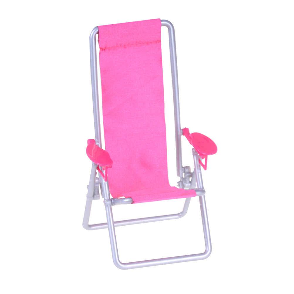 Nieuwe Collectie 1:12 Schaal Opvouwbare Deckchair Lounge Strand Stoel Voor Mooie Miniatuur Voor meisje Poppen Huis