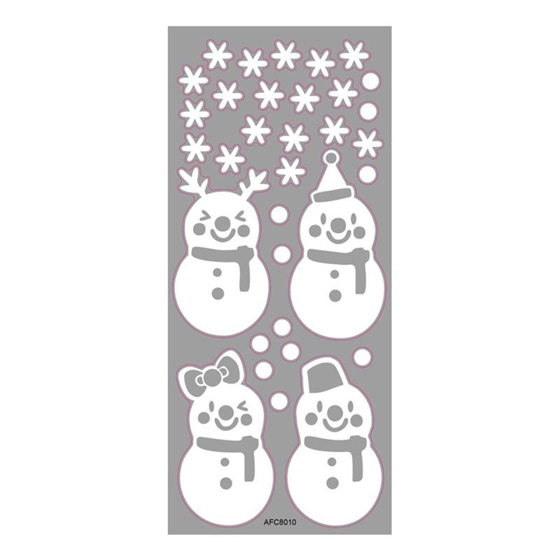 christmas snowflake window stickers pvc clings removable snowman wall decals for merry christmas