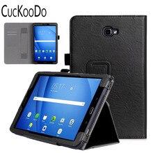Para Samsung Galaxy Tab 10.1 pulgadas SM-T585, múltiples Ángulos de Visión Folio Funda para el Galaxy Tab 10.1 SM-T580 Tablet