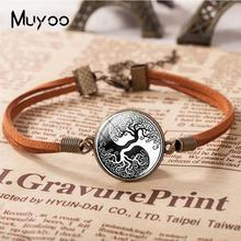 Bracelets Tree-Life Yin Yang Jewelry Hand-Craft Glass