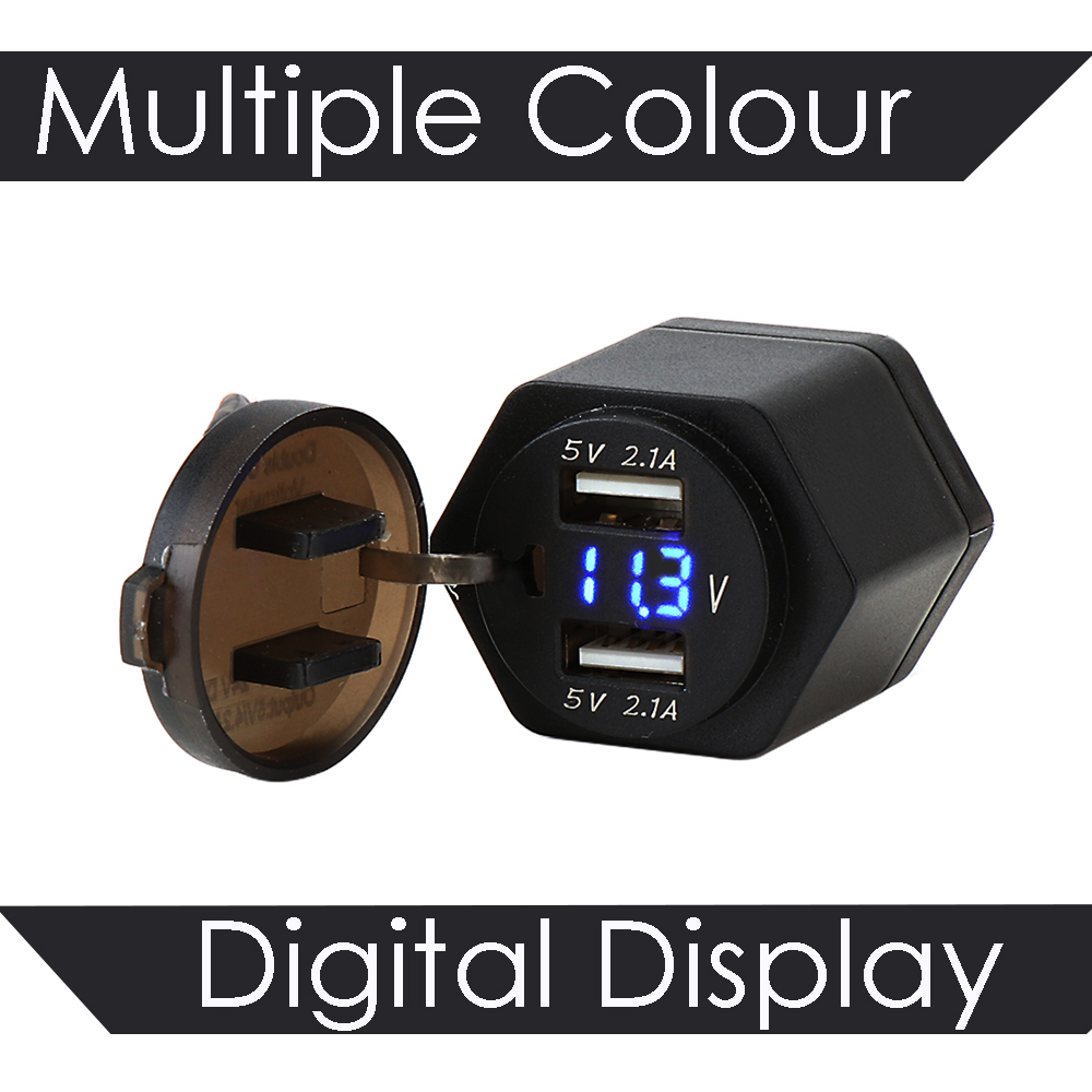 FUBANGBM Fit For BMW R1250GS R1200GS F800GS F700GS ADV Fit For Triumph Tiger 800 1200 Dual USB Interface Digital Display Charger Adapter Port Color : Five Pieces