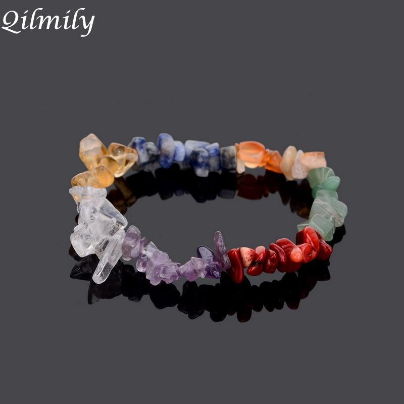 OfficiëLe Website 7 Charka Natuursteen Quartz Crystal Armbanden Voor Vrouwen Meisjes Passen Healing Armbanden Kralen Reiki Yoga Sieraden Gift Souvenirs