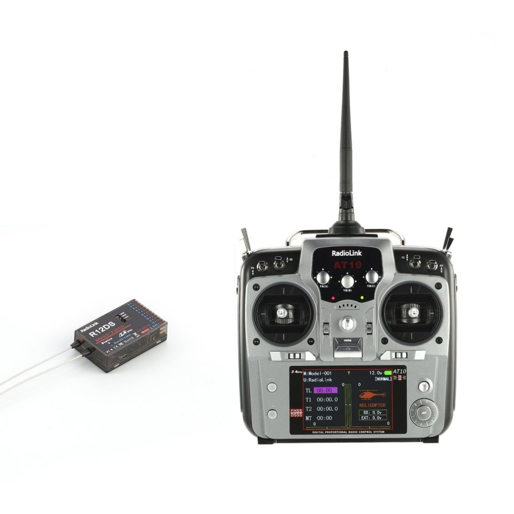 New style Radiolink AT10II 12CH RC Transmitter and Receiver R12DS 2.4GHz DSSS&FHSS Spread Radio RemoteNew style Radiolink AT10II 12CH RC Transmitter and Receiver R12DS 2.4GHz DSSS&FHSS Spread Radio Remote
