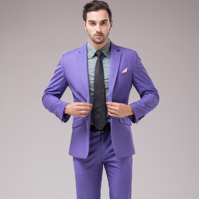 Formal One Button Suits Married Suit Groom Wear Fashion Slim fit men ...