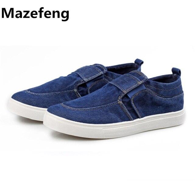 Mode casual chaussures de toile respirante Flats Mocassins Hommes Chaussures qPOAZ
