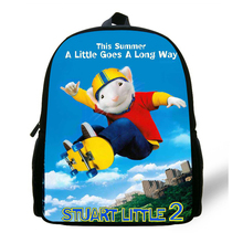 3D School Bags For Boys Stuart Little Pattern Toddler Backpacks Child Mini cute Book Bag Kids Preschool Satchel Mochila Escolar