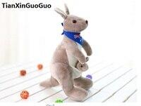 Yeni varış dolması oyuncak mavi eşarp bayrak ile Avustralya kanguru peluş oyuncak yaklaşık 25 cm yumuşak bebek doğum günü hediyesi h2008