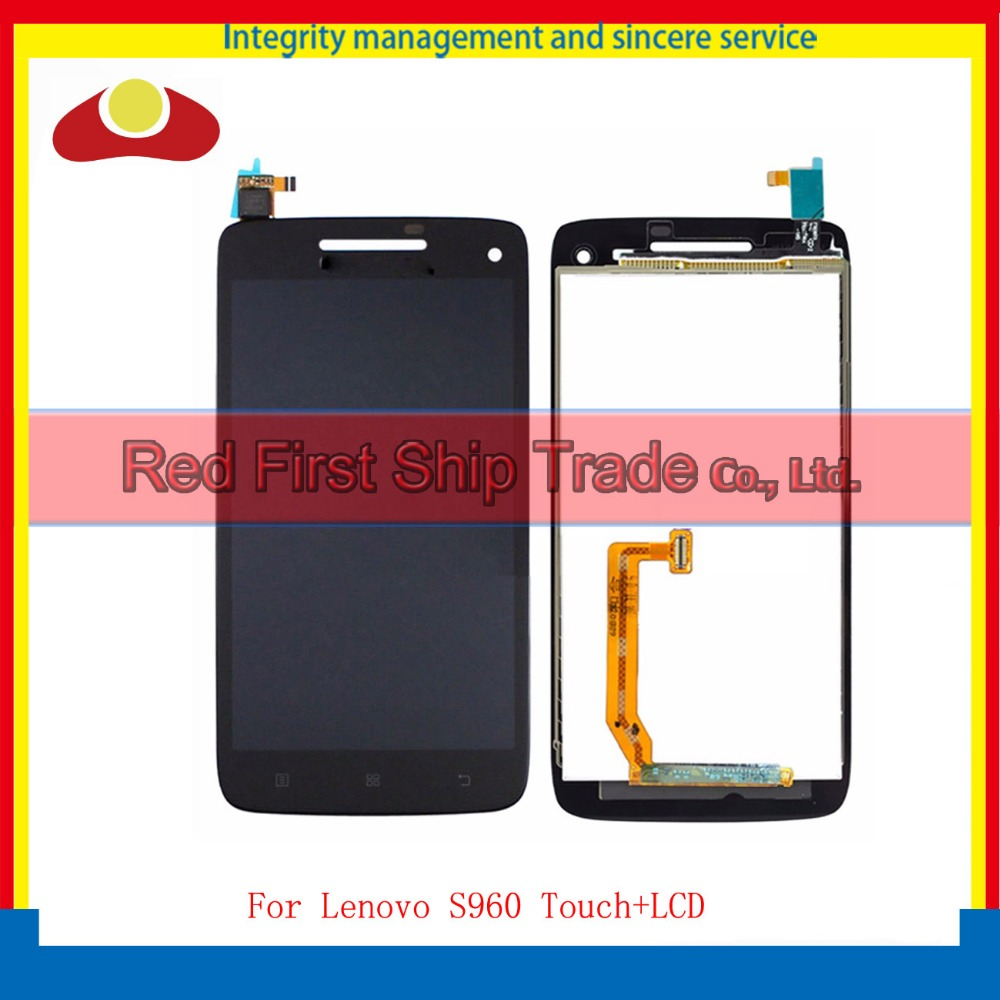 5.0 For Lenovo VIBE X S960 Full Lcd Display With Touch Screen Digitizer Assembly Complete Black Free Shipping+Tracking Code lcd display touch screen panel digitizer accessories for lenovo vibe k5 plus 5 0inch smartphone free shipping track number