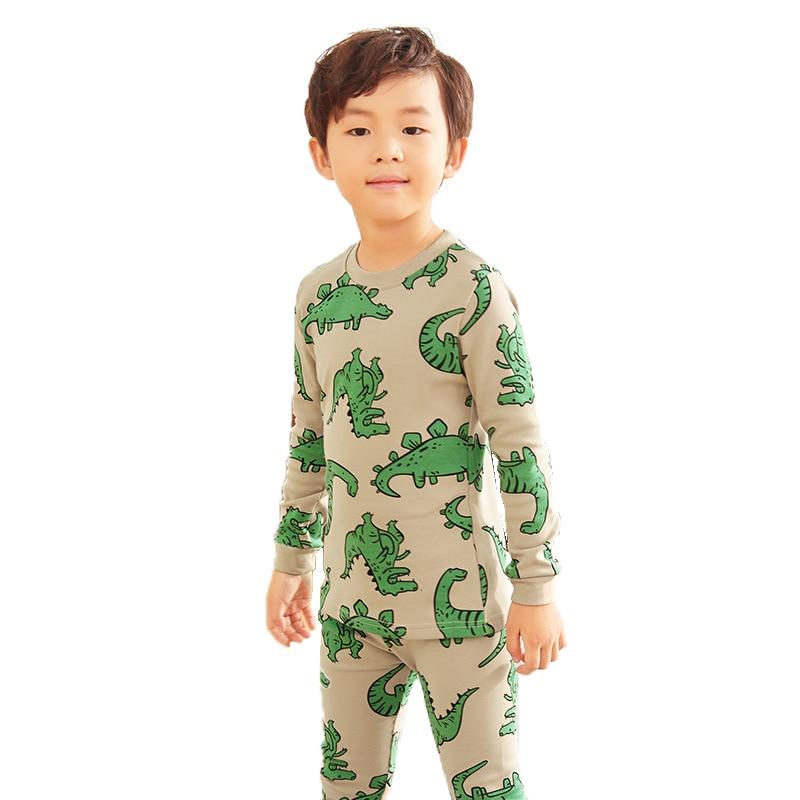 Sleeve, Boys, Baby, Dinosaur, Long, Pajamas