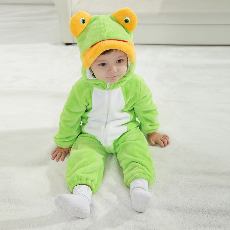 High quality Baby frog clothes jumpsuit cute for photo high quality