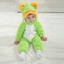 Младенцы лягушка одежда комбинезон милый для фото