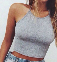 fitness tops sexy cropped