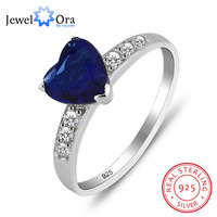 925 Sterling Silver Cubic Zirconia Heart Ring JewelOra RI101188 Fashion Jewelry Classic Rings For Woman