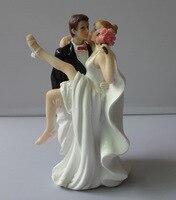 Resin Bride Groom Cake Toppers Wedding Favor Couple Figurine Wedding Cake Party Decorative