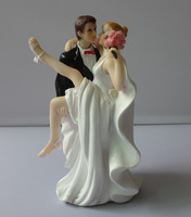 Resin Bride Groom Cake Toppers Wedding Favor Couple Figurine Wedding Cake Party Decorative