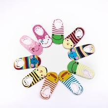 Cartoon Kids Short Socks Boys Girls Cotton Sock Spring Autumn Animal Infant Props Anti Slip Baby Sock 1-3 Y Children Clothing