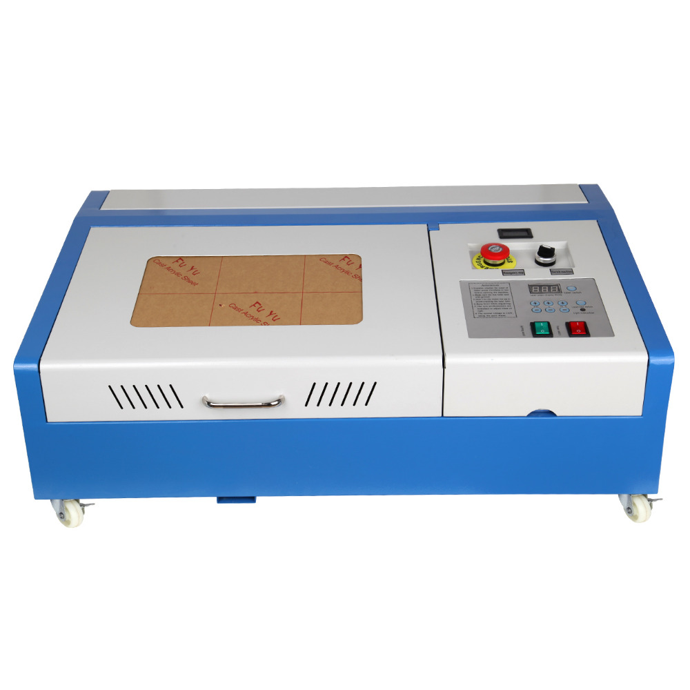 (Shipping From US ) 40W CO2 USB Port Laser Engraving Cutting Machine 300x200mm Engraver Cutter uk free shipping 40w co2 laser engraver engraving cutter cutting machine usb port 220v