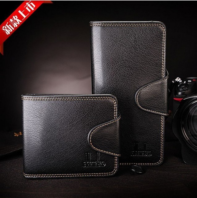 Free Shipping!new promotion hot sale Men's genuine leather  wallet male leather lines purse/wallet  C387