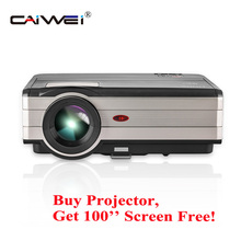 CAIWEI HD Video Projector Home Theater Proyector Backyard Movies HDMI USB for Laptop iPhone Smartphone Mac 4000 Lumens