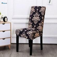 Цветочный принт эластичный чехол для кресла для дома Декор обеденный чехол для кресла спандекс декоративное покрытие офисные банкетные чехлы для стульев