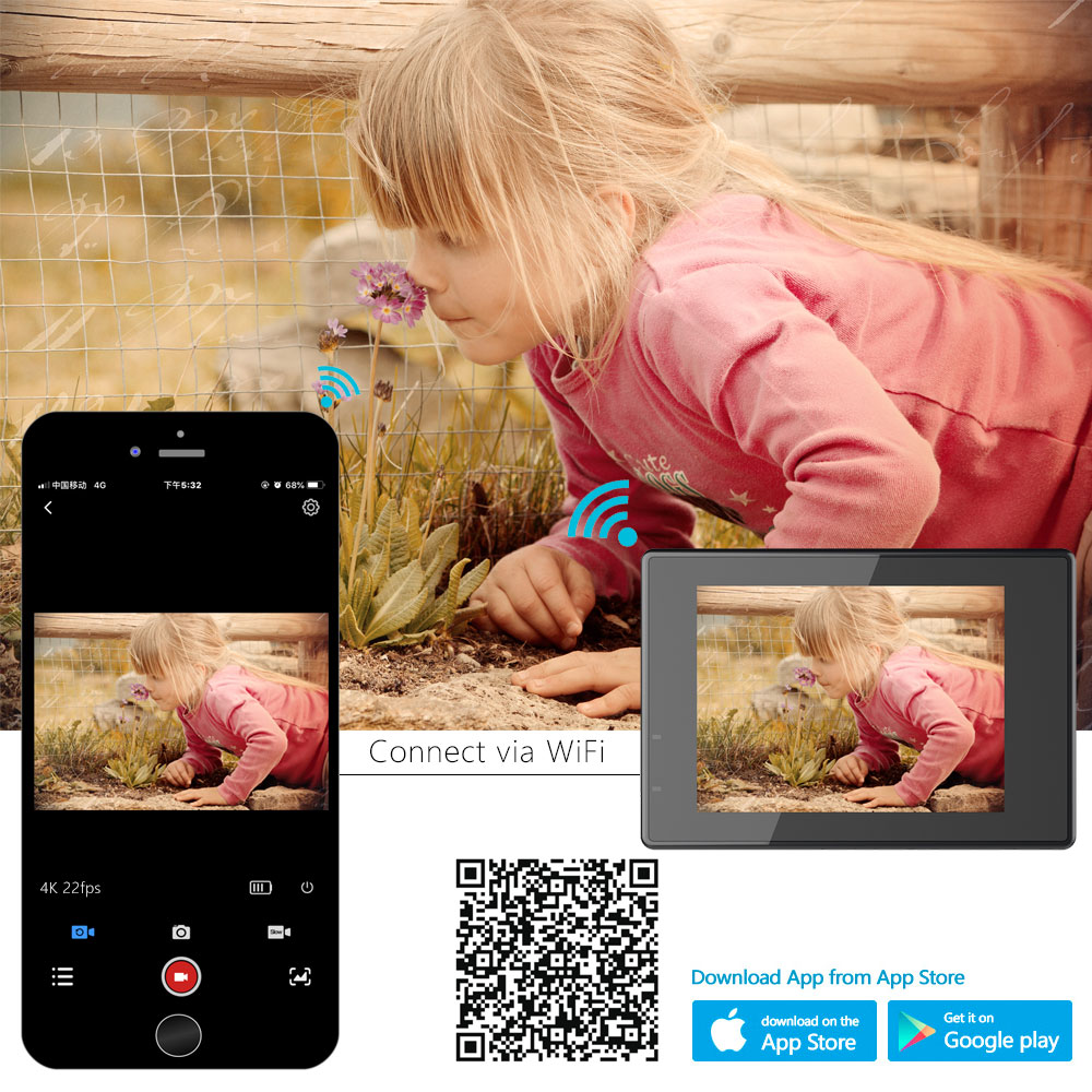 Original SJCAM SJ4000 AIR Action Kamera Full HD Allwinner 4K @ 30fps WIFI 2.0