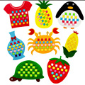 8pcs DIY Children Educational Toys Creative Handmade Diy Animal and Fruit Material Kid gifts bouquet Party Decoration