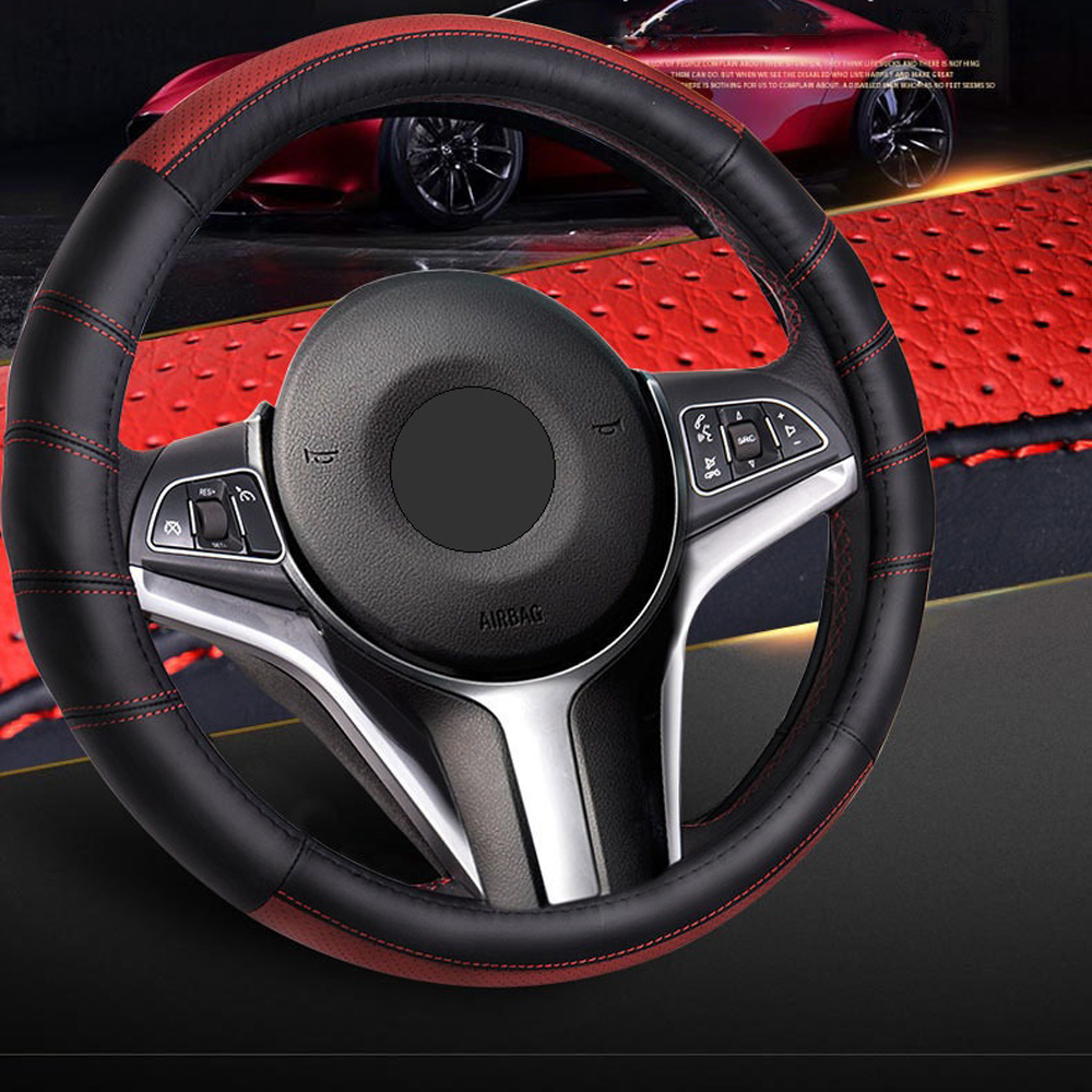 Universal Car Steering-wheel Cover Car-styling Sport Auto Steering Wheel Skidproof Durable Covers Anti-Slip Automotive ice silk 38cm universal car steering wheel cover breathable car styling sport auto steering wheel covers automotive accessories
