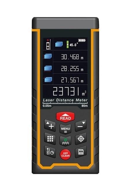50M 70M 80M 100M 120M USB Rechargeable Color Laser distance meter Rangefinder Rang finder Tape SW-S50 SW-S70 SW-S100 SW-S120