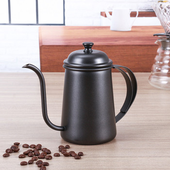 Stainless Steel Coffee Drip Kettle Frothing Jug Coffee Pot Gooseneck Spout Kettle High Quantity Coffee Tea tools 650ML 4