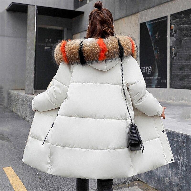 Mediun Lumineux gray Grand 3xl Long Hiver Coton caramel Black white Red Col Femmes Parkas rust Colour Taille M 2018 Veste Manteau Fourrure Épais De Mode Grande Fashion513 wxxXqvAY