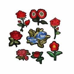 Main-Cousu Paillettes Applique Broderie Patch Motifs De Dentelle Rose Brodé Fleurs Patches À Coudre À Tricoter Vêtements Accessoires