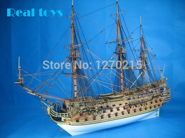 Classic DIY Model Ship Assemble Kits Invincible Armada The San Felipe Warship Model