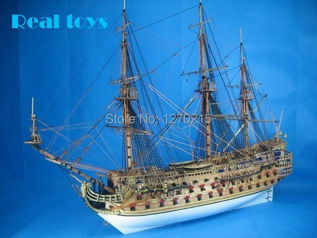 klassik DIY model gəmi toplaşması yenilməz armada, San Felipe hərbi gəmi modeli
